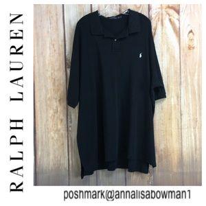 💸Men's 4XLT Polo Ralph Lauren Black polo shirt